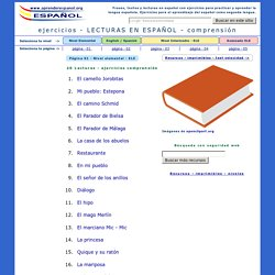 Frases y Textos con ejercicios en español