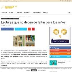 Lecturas que no deben de faltar para los niños - Educación 2.0
