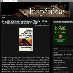 Prólogo Enrique Mújica a Réquiem por un campesino español