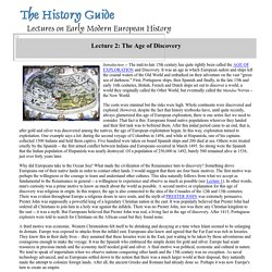 Lecture 2: The Age of Discovery
