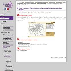 2nde : Lecture et analyse d'un plan de ville du Moyen-Age avec Images Actives
