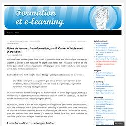 Notes de lecture : l'autoformation, par P. Carré, A. Moisan et D. Poisson