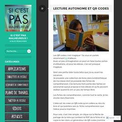Lecture autonome et QR codes – Si c'est pas malheureux !