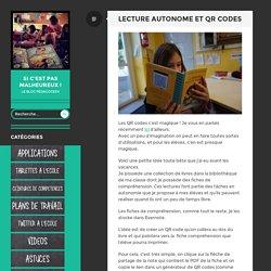 Lecture autonome et QR codes