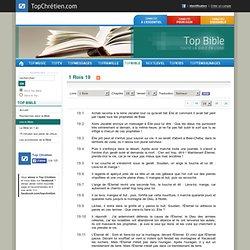 Lecture de 1 Rois chapitre 19 - Version Semeur - Top Bible
