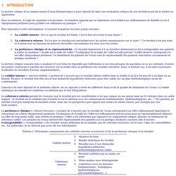 Petit manuel de lecture critique des essais cliniques