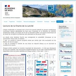 Lecture de la Charte de la Laïcité _ GND numérique histoire géo _ académie de Nice