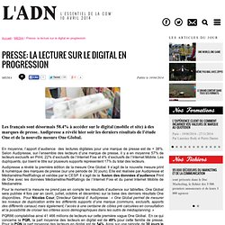 Presse: la lecture sur le digital en progression - MEDIA - l