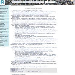 Lecture et Ecriture de fichiers. / Le langage. / Aide mémoire R.