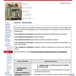 Lecture - Généralités - Des outils pour l'aide perso...