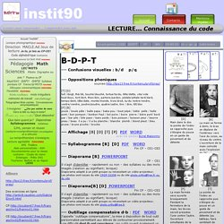 Lecture: le code B D P T