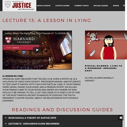 Lecture 13: A Lesson In Lying – Harvard Justice