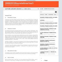 LECTURE LINÉAIRE (SÉANCE 2, l. 228 à 261) - 20092010faurelettres1es3