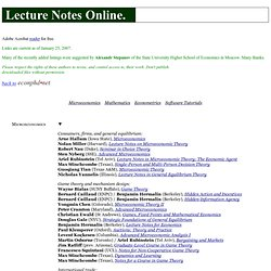 Lecture Notes Online