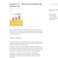 Lecture n°11 : Show me the Numbers par Stephen Few