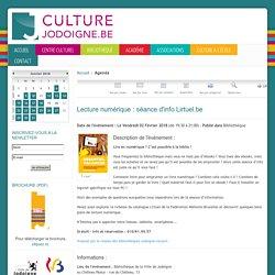 Lecture numérique : séance d'info Lirtuel.be