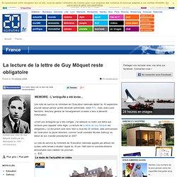 La lecture de la lettre de Guy Môquet n'est plus obligatoire sur