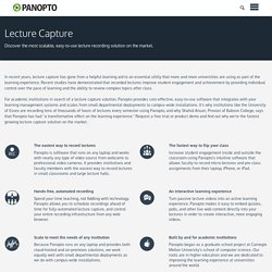 Panopto Video Platform for Education