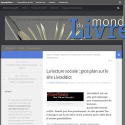 La lecture sociale : gros plan sur le site Livraddict