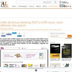 L'offre de lecture streaming SNCF e-LIVRE revue : moins d'ebooks, mais gratuits