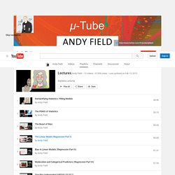 Dr. Andy Field: Lectures on You Tube