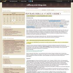 THEATRE Lectures Analytiques - RUY BLAS (1838)… - Le blog de cdflscej.over-blog.com