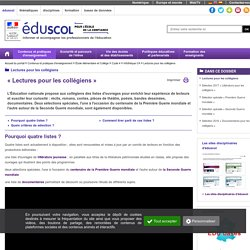 Lectures pour les collégiens - « Lectures pour les collégiens »