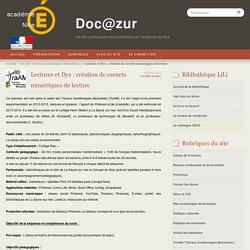 Lectures et Dys : création de carnets numériques de lecture