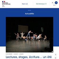 Culture.gouv.fr - Lectures, stages, écriture… un été culturel au TNS