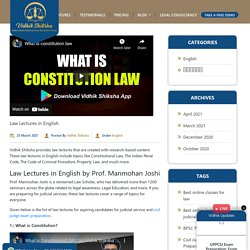 Law Lectures in English - Best Law Notes