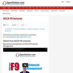 Free ACCA F9 lectures - Financial Management