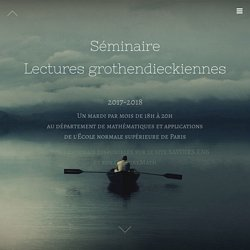 Lectures grothendieckiennes - DMA