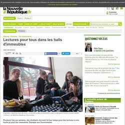 Lectures pour tous dans les halls d'immeubles - 18/01/2016, Poitiers (86)