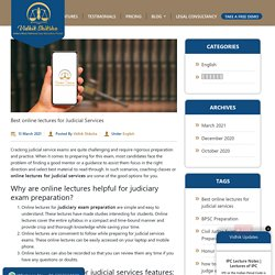 Best online lectures for Judicial Services