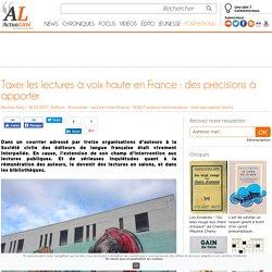 Taxer les lectures à voix haute en France : des précisions à apporter
