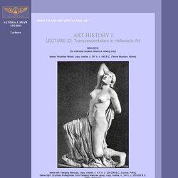 Lectures by Sandra J. Shaw - Le transcendental dans la sculpture hellénistique