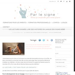 Les lectures signées: lire des histoires en Langue des Signes Bébé