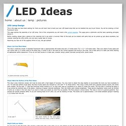 LED Lamp Design
