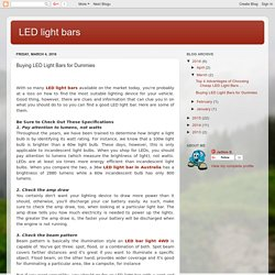 LED light bars: Buying LED Light Bars for Dummies