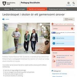 Ledarskapet i skolan är ett gemensamt ansvar - Pedagog Stockholm