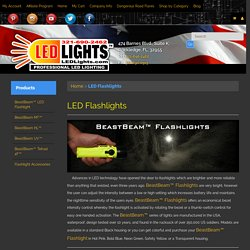 LED Flashlights from LEDLights are Brighter & Reliable