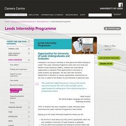 Leeds Internship Programme