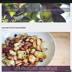 Leek and Potato Hash Browns