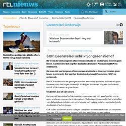 SCP: Leenstelsel schrikt jongeren niet af - RTL Nieuws