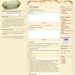 Leet speak 1337 5p34k - code, decode, encode