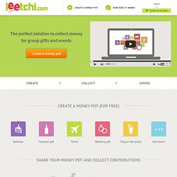 Leetchi.com - group gifts and events, online money pots