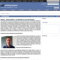 Dossier : Julien Lefebvre : La webradio en cours de français