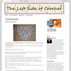 The Left Side of Crochet: Heart Dishcloth