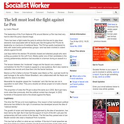 Left must lead fight against Le Pen|28Apr12