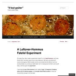 A Leftover-Hummus Falafel Experiment